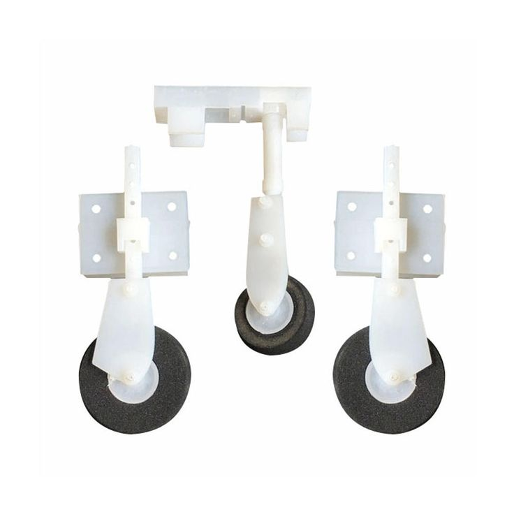 Plastic Nylon Adjustable Landing Gear Set With Wheels for KT Board RC Airplane