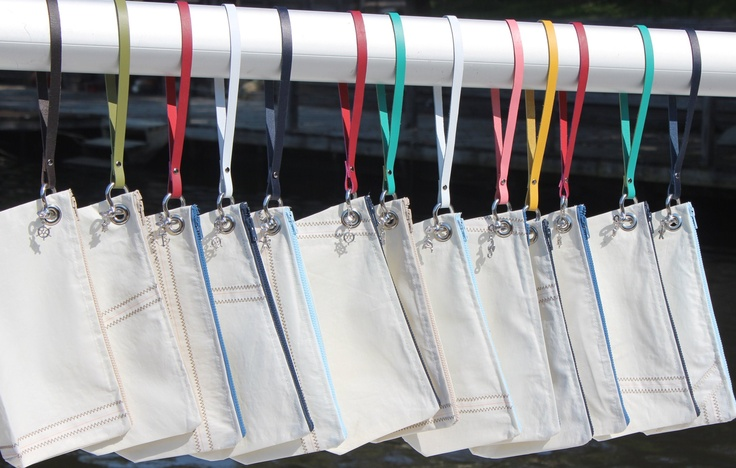 By the Bay Creations sail bags made with retired sails, super cool! Get yours at Ophiuroidea