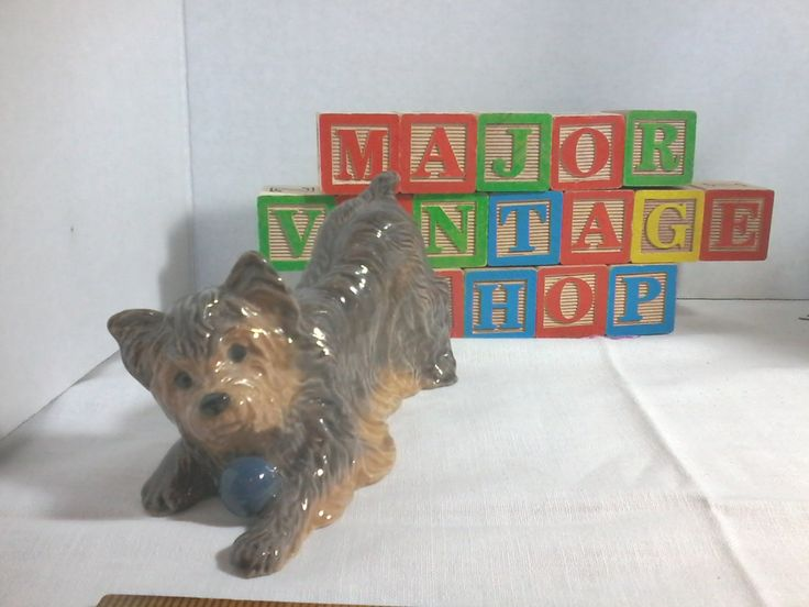 Yorkshire terrier dog made in England by Heredities England by MajorVintageShop on Etsy