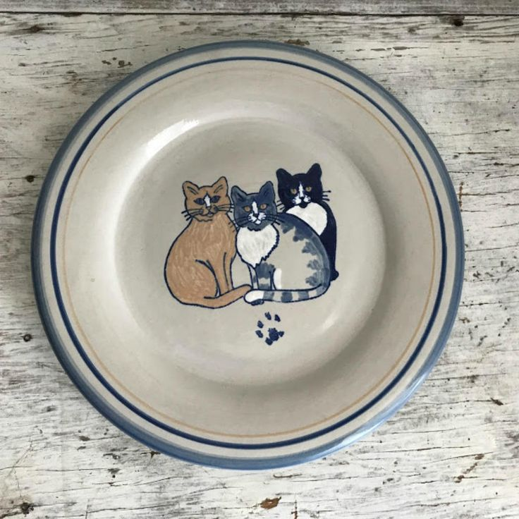 Rare limited edition Louisville Stoneware Classy Cats plate by ImSoVintage on Etsy