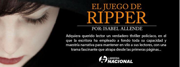 Novedad literaria: El juego de Ripper de Isabel Allende, adquiéralo en http://j.mp/1c7EAo4
