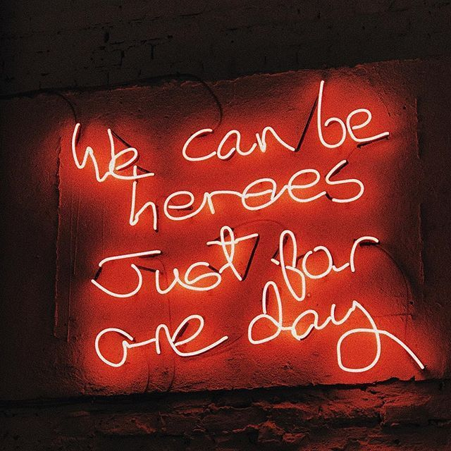 We can be #heroes/just for one day #Bowie #music