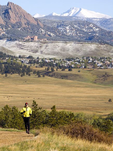 A trail runner on Marshall Mesa outside Boulder, Colorado-- This will be me one day! A little piece of my <3 is in CO.