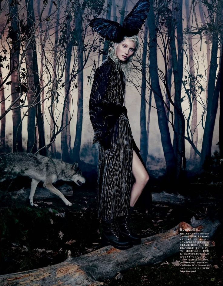 into the woods: zlata mangafic, katryn kruger, sophie touchet, dasha gold, veroniek gielkens, pauline hoarau and bruna rosa by emma summerton for vogue japan october 2014