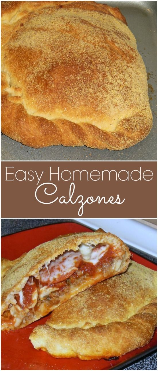 Make your calzone at home! This recipe for easy homemade calzones will please the entire family and even those picky eaters.