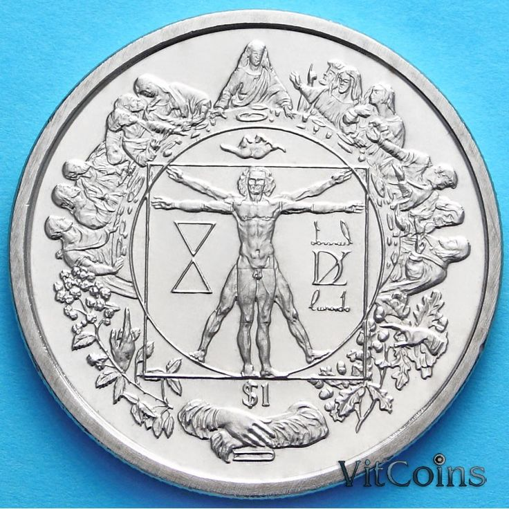 Сьерра-Леоне : Сьерра-Леоне 1 доллар 2006 г. Витрувианский человек