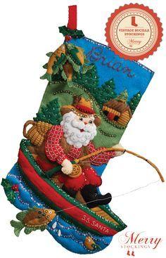 Bucilla Christmas Stocking Kits | Christmas Stocking Kits Bucilla Felt Applique Christmas Stocking Kit ...