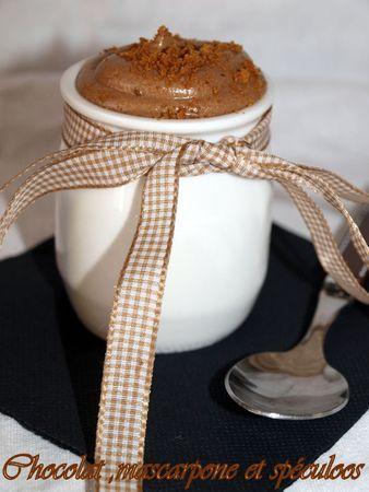 Douceurs chocolat , mascarpone et spéculoos