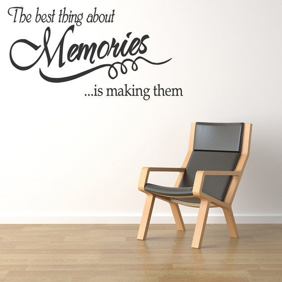 Memories Wall l Quote Wall Decal Vinyl Art Sticker Home Decor Art Lettering (78) via Etsy