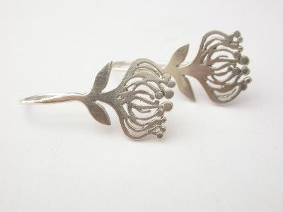 Love these gorgeous Silver Protea Flower earrings