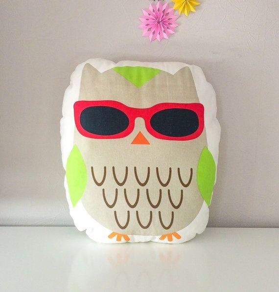 Free shipping owl pillow stuffed owl owl cushion  by BeTheOriginal