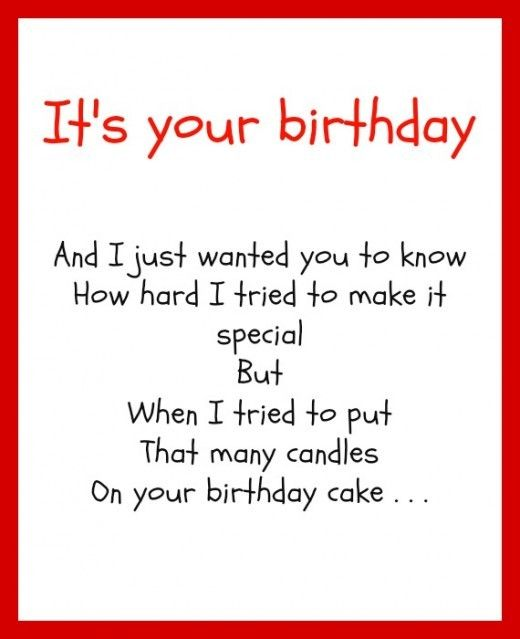 The 25+ Best Funny Birthday Poems Ideas On Pinterest