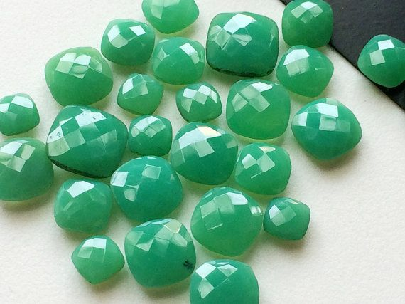 5 Pcs Chrysoprase Stones Loose Chrysoprase by gemsforjewels