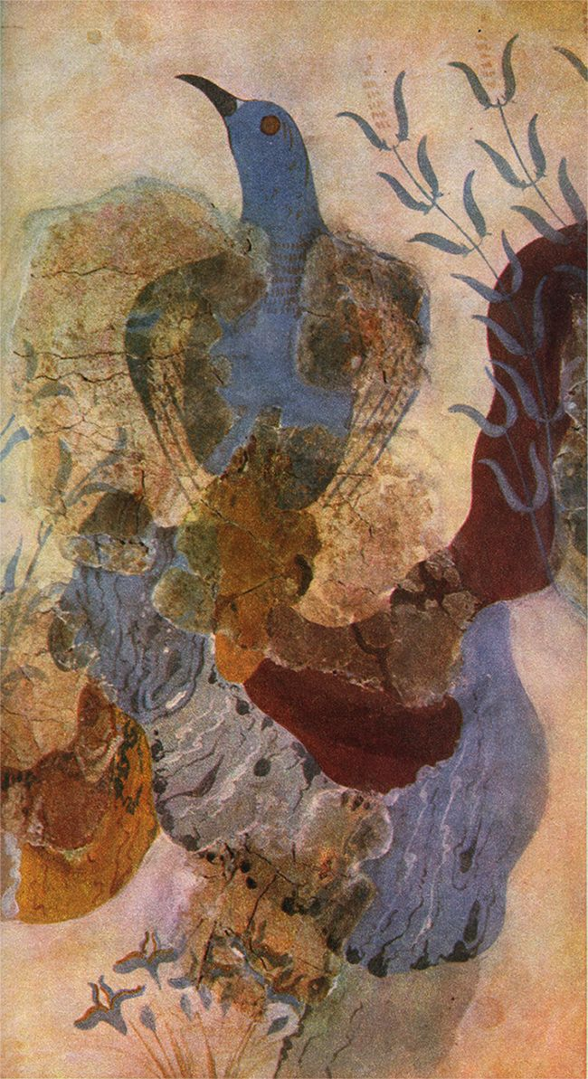 animus-inviolabilis: Fresco with Blue Bird Minoan, Knossos c. 1500 BCE