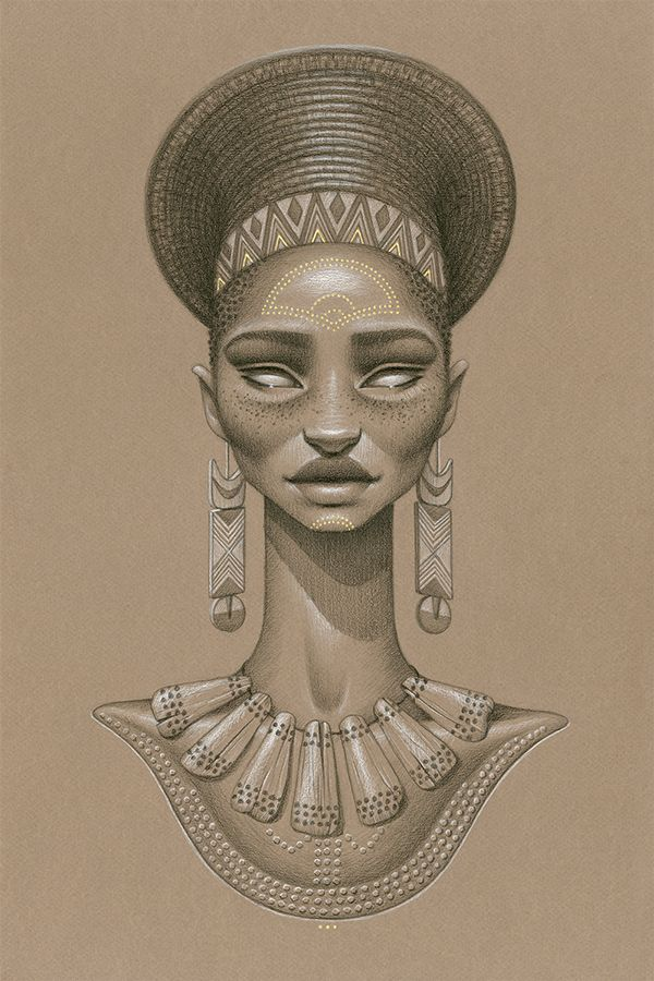 I'll probably have this one on my leg,  opposite to my Nefertiti tattoo.  SUNDUST collection by sara golish