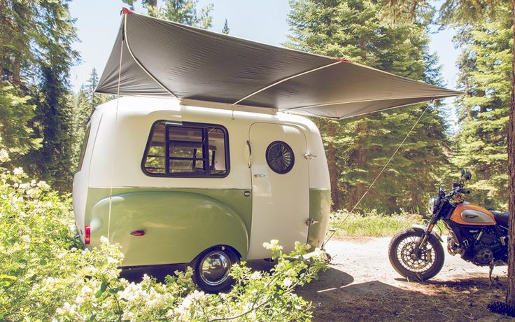 At just 1,100 pounds, the Happier Camper can be towed by many small cars, yet still packs a lot into the small trailer.