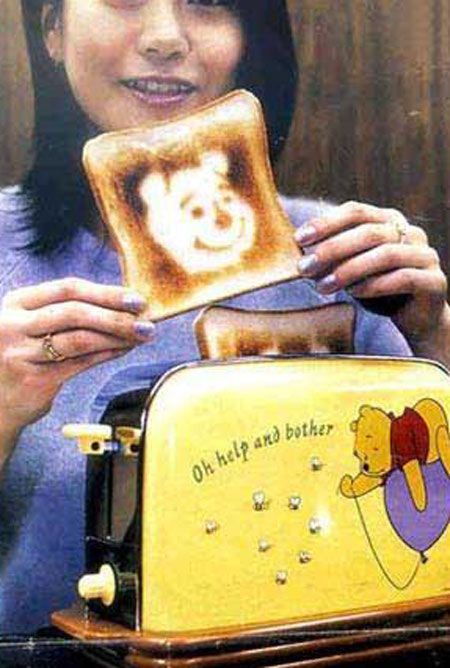Toaster that makes patterns on the toast!| Funny and weird Japanese inventions