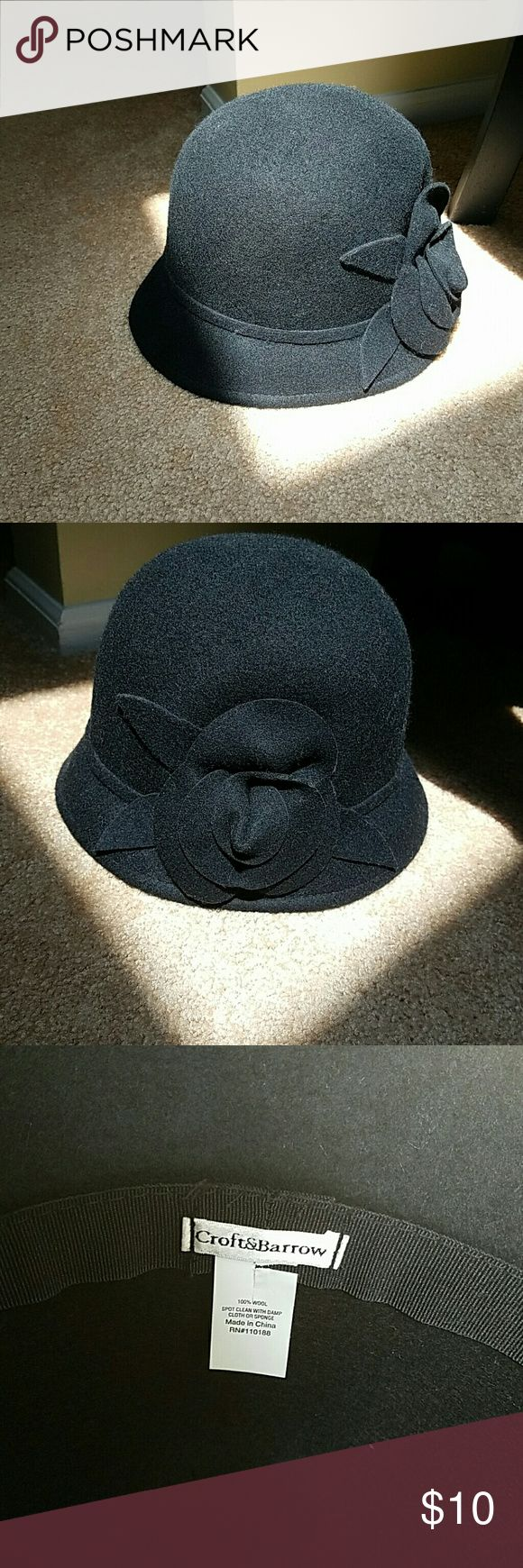Black Wool Bowler hat 100%wool black bowler hat  (I know it's summer and the last thing you want to think about is wool....but I need the space!) Never worn! Croft & Barrow Accessories Hats
