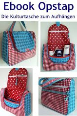 Hanging toiletries bag downloadable pattern & instructions