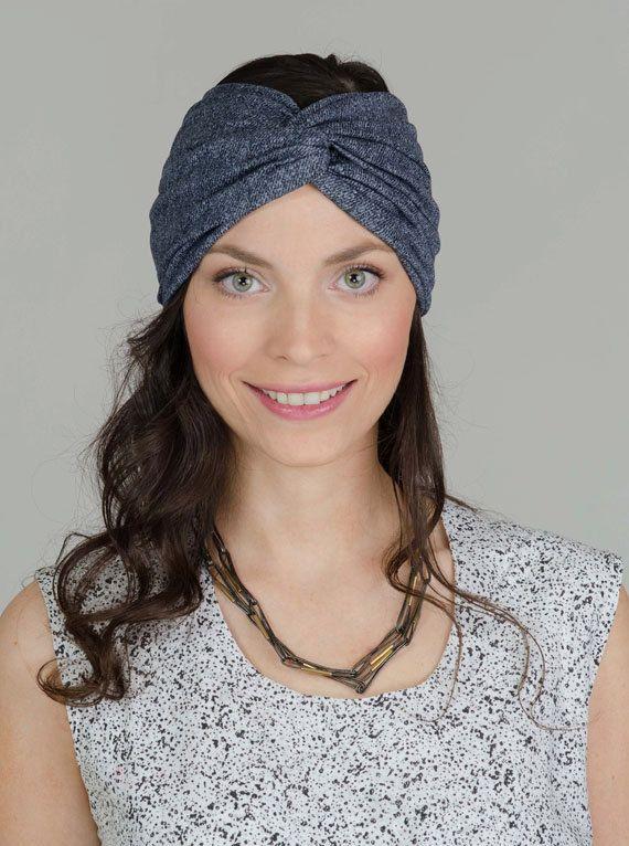 Denim Twisted Headband Denim Turban Twist Headband by Banditame