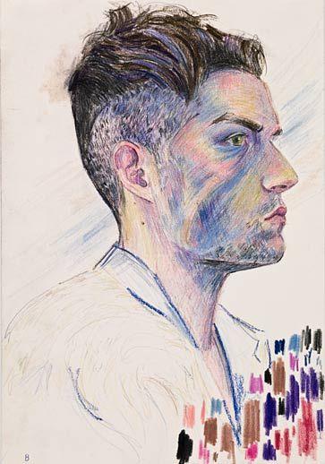 "Elizabeth Peyton, ""Brandon Flowers"" (2009) Via Gladstone Gallery."