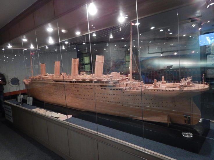 Titanic made from matchsticks