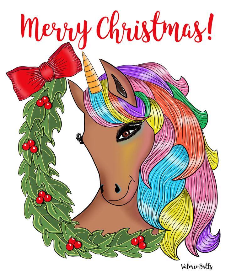 black unicorn black christmas black santa unicorn