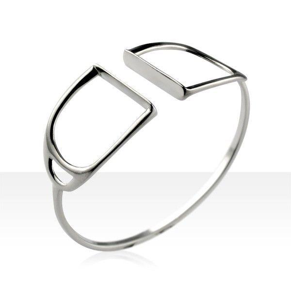 Bracelet Argent JONC ETRIER GM  - EQUESTRIAN JEWELLERY