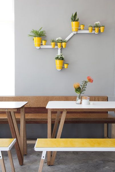 Superette / love the gray and yellow combo in this Cape Town cafe. via Remodelista.