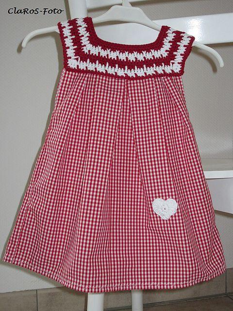 Ravelry: Kleidchen mit Häkelpasse pattern by Cla RoS