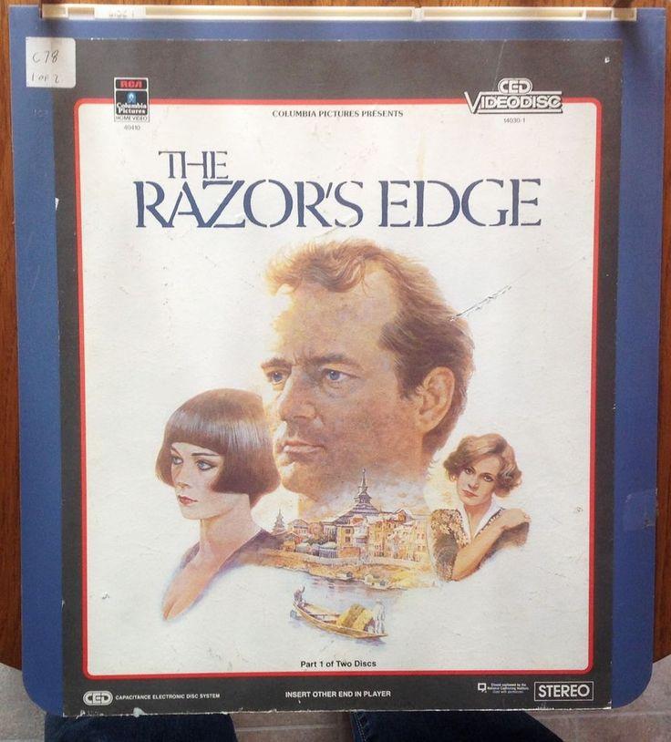 """The Razors Edge"" Vintage Video Disc CED Rate PG-13 2 DISCS Bill Murray EUC"