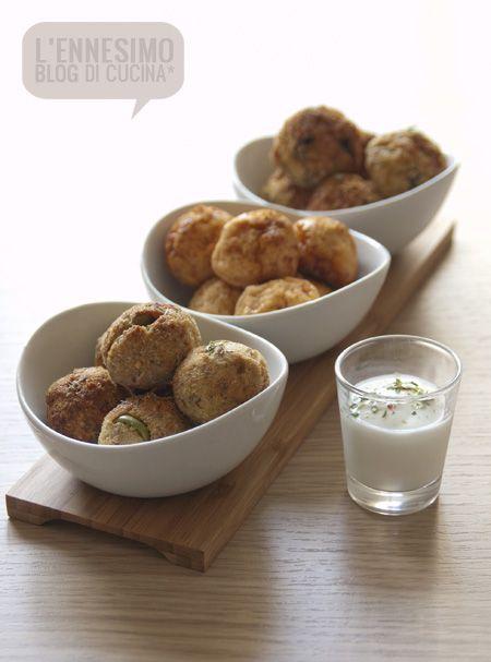 Tris di polpette di mare. Ideali per una cena a buffet!