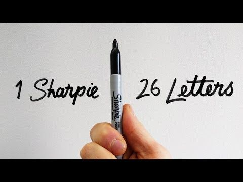 1 Sharpie | 26 Letters - How to draw the serif alphabet - YouTube