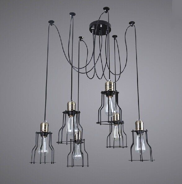Retro industry rural industrial creative restoring ancient ways american meals pendant lights american country gy171