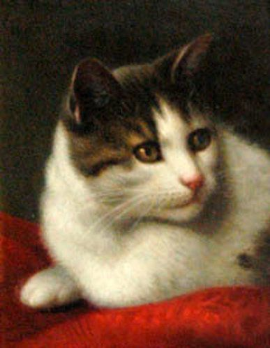 Hannah Brown Skeele (1829-1901) - Portrait of a cat