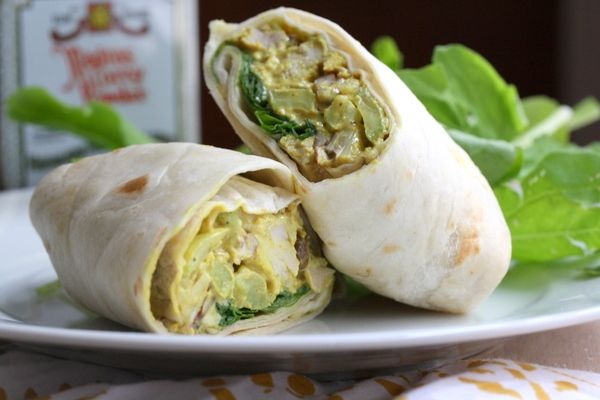 Curry Chicken Wrap! | Lunch ideas | Pinterest