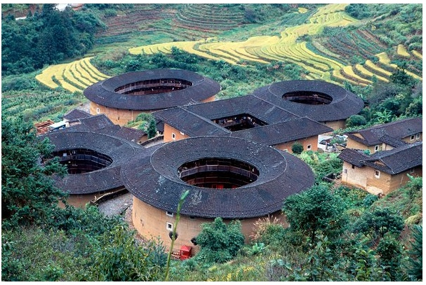 """Called """"Hakka Houses"""" these small scale castle are impenetrable and can hold up to 800 people at a time"""