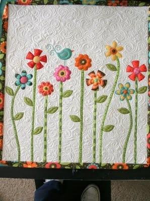 Flower and bird child's quilt.