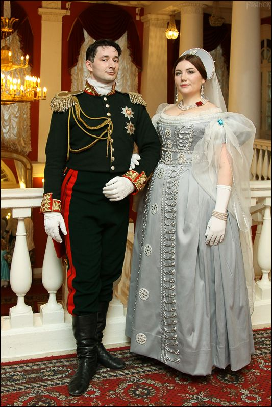 Elena Potapova creation. Russian court dress, 1830's reproduction. Outstanding!