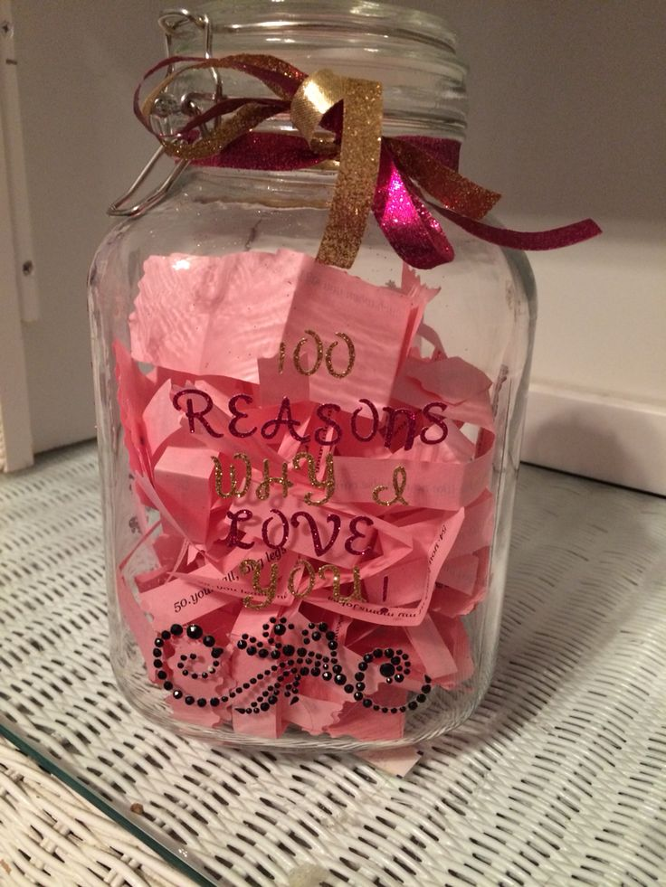100 Reasons Why I Love You Jar Diy Fun Pinterest