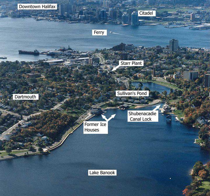 Aerial View of Dartmouth, Nova Scotia