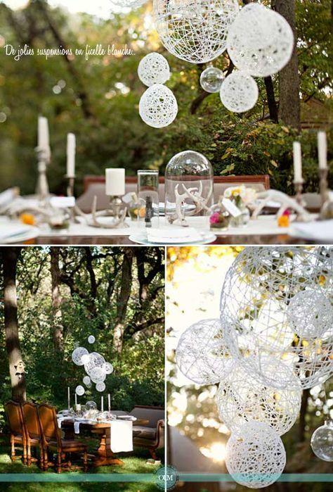 DIY : De belles suspensions en corde pour décorer votre salle ou vos tables - Organiser un mariage