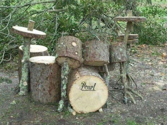 Vous n'avez pas le temps pour déterrer une souche d'arbre dans votre jardin ?Pouquoi ne pas lui donner une seconde vie ?