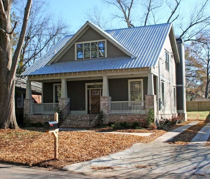 craftsman style house with metal roof roof metal