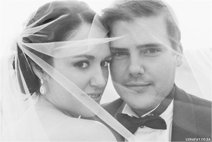 Wedding Photography Bridal Couple Veil Photo www.lunafay.co.za