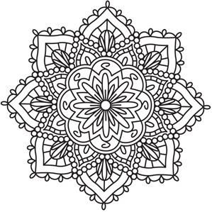 Mendhika Medallion_image - print out mandalas & then chalk them. Use in center of card