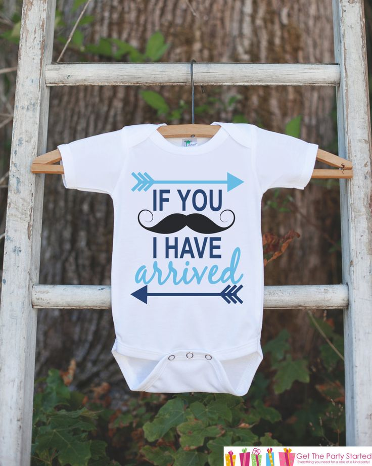 Mustache Onepiece - I Have Arrived Bodysuit - Going Home Outfit - Little Man Mustache Bodysuit - Coming Home Outfit - Boy Hospital Outfit
