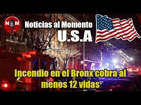 Incendio en el Bronx cobra al menos 12 vidas   Noticias al Momento USA
