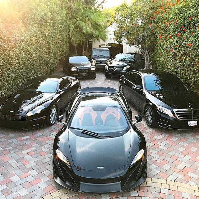 Cars Collector Garages: Kardashian Approved ️ All Black Garage... 675LT, AM, RR