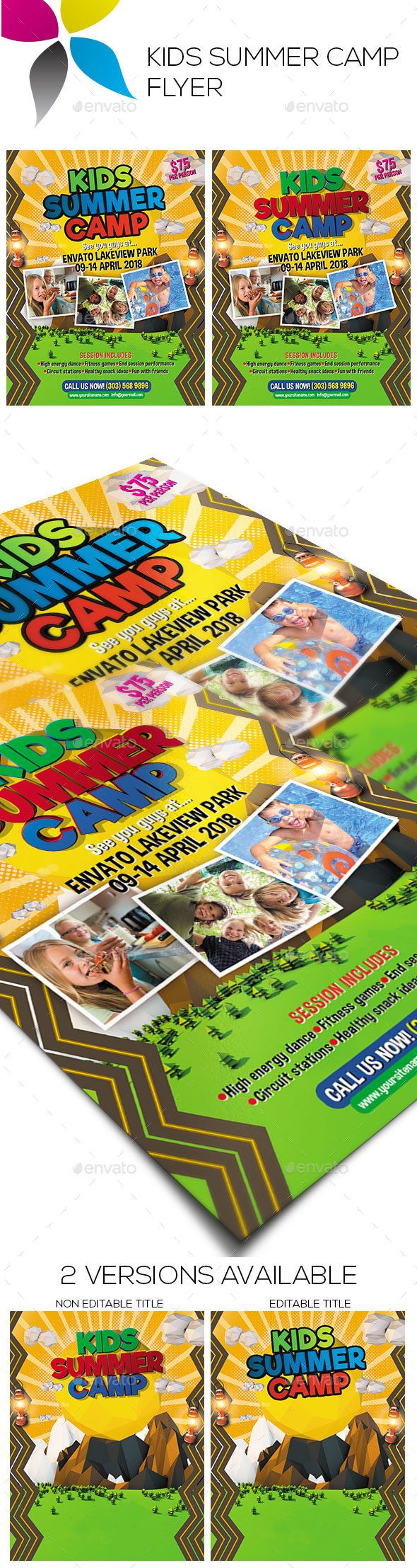 Best Kids Summer Flyer Images On   Event Flyers